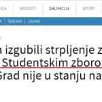 """SZST poslao """"Zahtjev za ispravak netočne i neistine informacije"""" Slobodnoj Dalmaciji"""