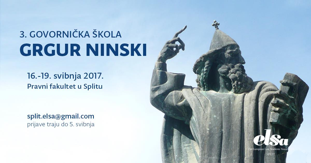 "3. govornička škola ""Grgur Ninski"" powered by Elsa Split"